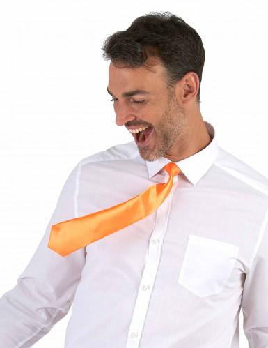 Oranje stropdas voor volwassenen