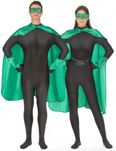 Groene superheld set voor volwassenen
