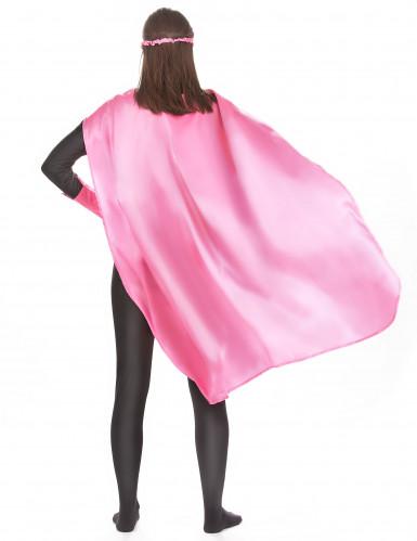 Roze superheld set voor volwassenen-2