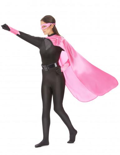 Roze superheld set voor volwassenen-1