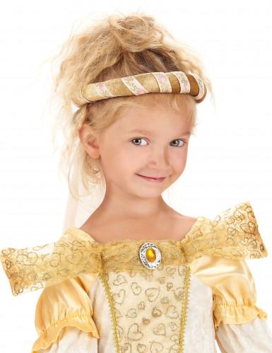 Roze middeleeuwse haarband voor meisjes -1
