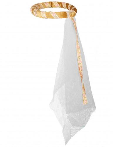 Roze middeleeuwse haarband voor meisjes -2