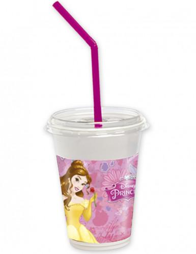 Set 12 bekers met deksels en rietjes Disney Prinsessen™