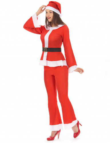 Witte en rode kerstvrouw outfit voor vrouwen-1