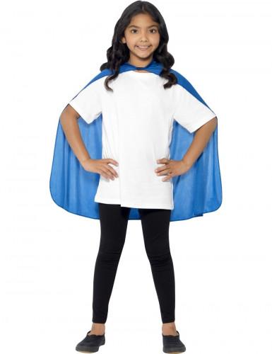 Blauwe cape voor kinderen-1