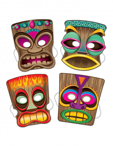 Set van Tiki maskers Hawaii