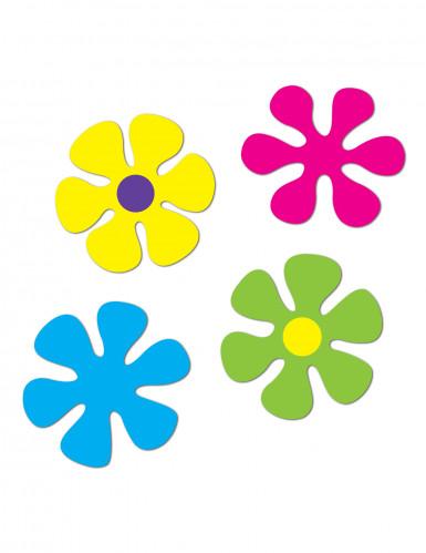Set van retro bloemen versieringen