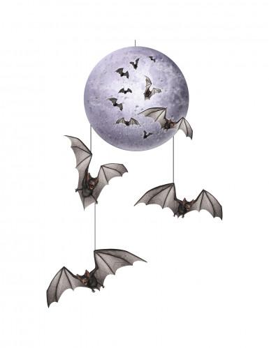 Maan en vleermuizen decoratie Halloween
