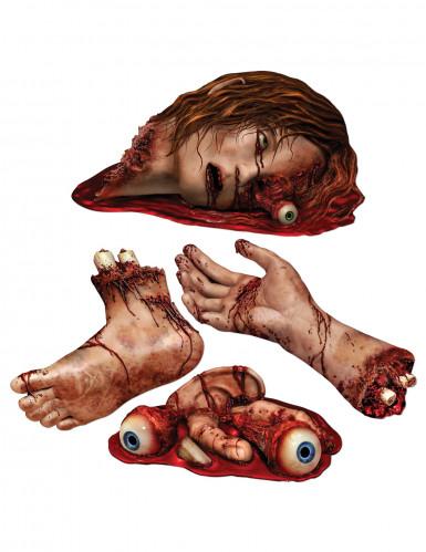 4 bloederige lichaamsdelen decoraties