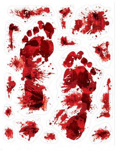 Bloedige voetafdrukken stickers voor Hallowen
