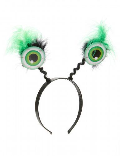 Haarband met groene ogen