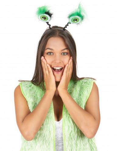 Haarband met groene ogen-1