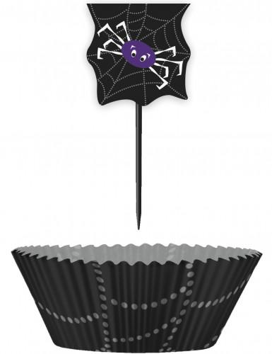 Halloween cupcake vormpjes met prikkers Spin