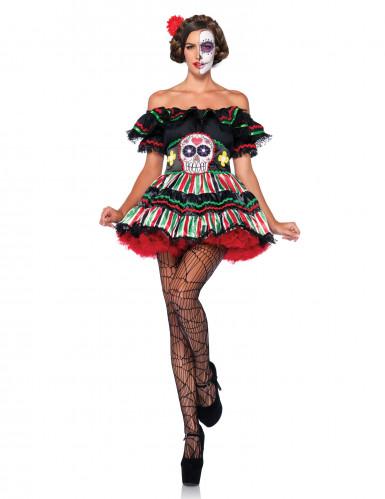 Dia de los Muertos outfit voor vrouwen