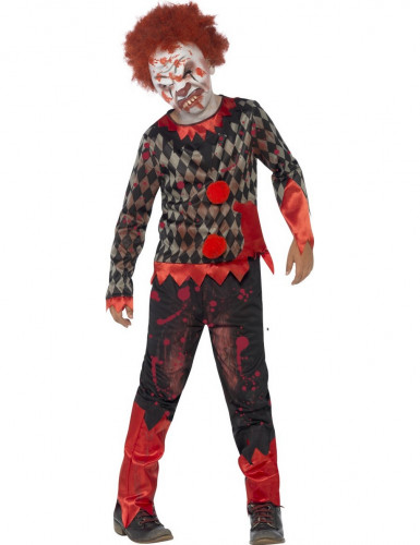 Zombie clown Halloween kostuum voor kinderen
