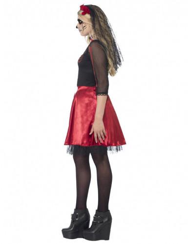 Rood skeletten Halloween kostuum voor tieners -1