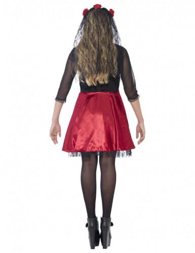 Rood skeletten Halloween kostuum voor tieners -2