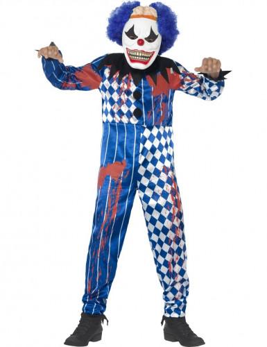 Griezelig Halloween harlekijn clown kostuum voor kinderen