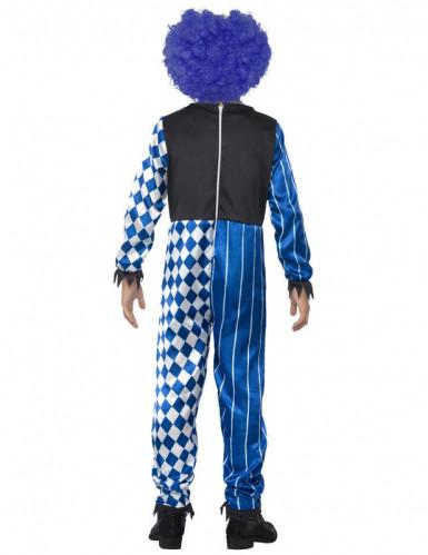 Griezelig Halloween harlekijn clown kostuum voor kinderen-1