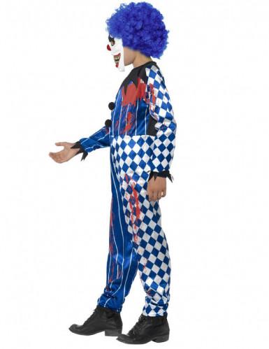 Griezelig Halloween harlekijn clown kostuum voor kinderen-2