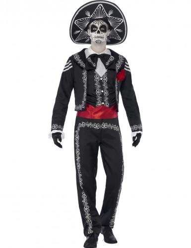 Mexicaanse skelet kostuum voor heren Halloween