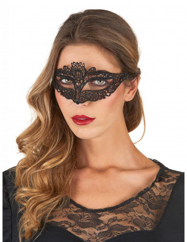 Zwart kanten masker voor vrouwen