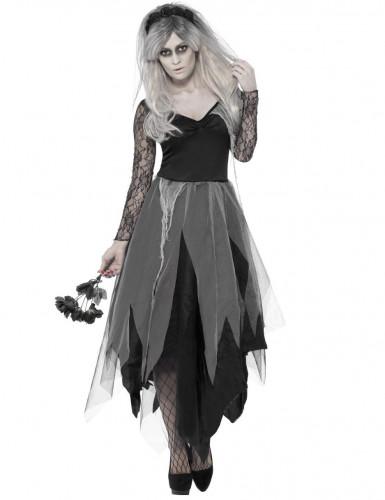 Zombie bruid kostuum voor dames Halloween