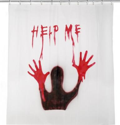 Horror douchegordijn Help me (180 x 180 cm)