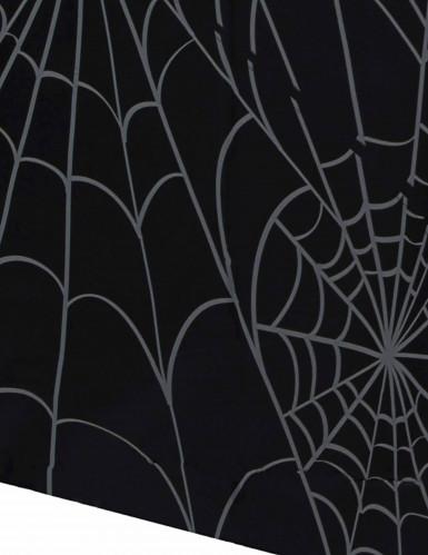 Zwarte tafelkleed met spinnenwebben motieven Halloween-1