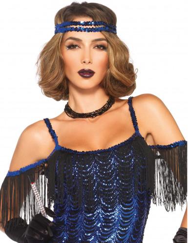Blauw charleston kostuum met lovertjes voor vrouwen-1