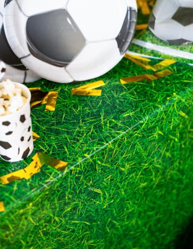 Groen tafelkleed met gras opdruk-1