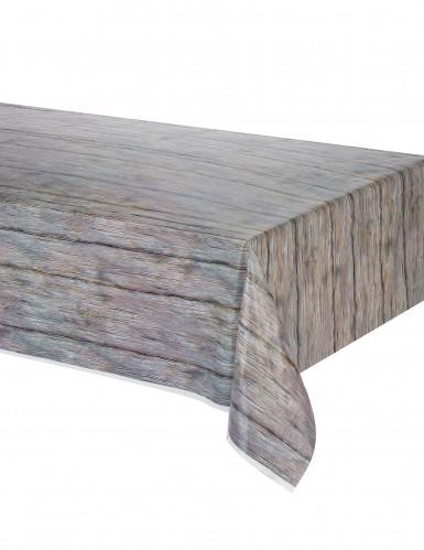 Tafelkleed met hout print