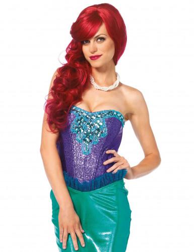 Paars en groen zeemeermin kostuum voor dames - Premium-1