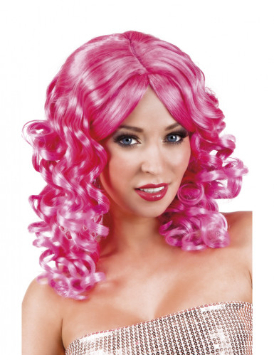 Roze gekrulde pruik voor vrouwen