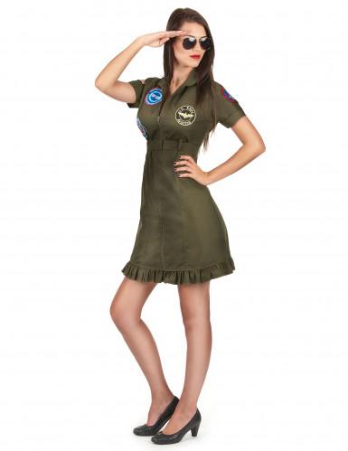 Luxe Top Gun™ outfit met bril voor volwassenen-1