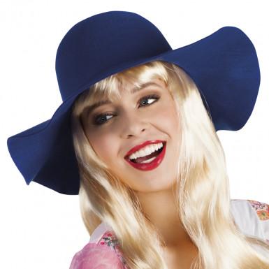Blauw zomerse hoed voor vrouwen