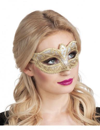 Goudkleurige Venetiaanse masker voor vrouwen