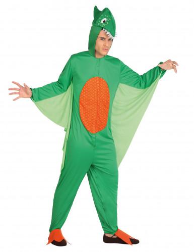 Dinosaurus kostuum voor mannen groen