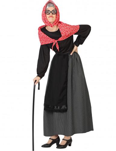 Oude vrouw kostuum voor dames
