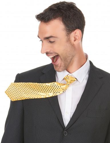 Goudkleurige stropdas voor volwassenen