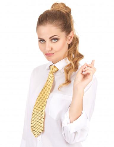 Goudkleurige stropdas voor volwassenen-1