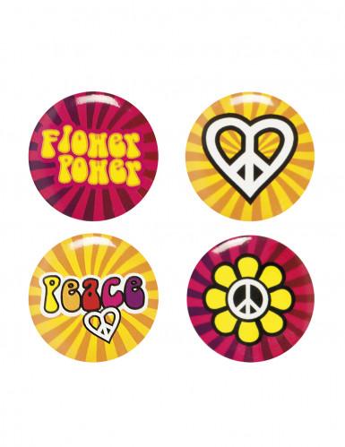 Hippie Flower Power buttons