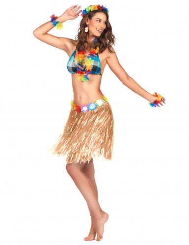 Korte Hawaiiaanse rok voor volwassenen