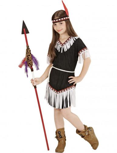 Zwart indianen kostuum voor meisjes -1