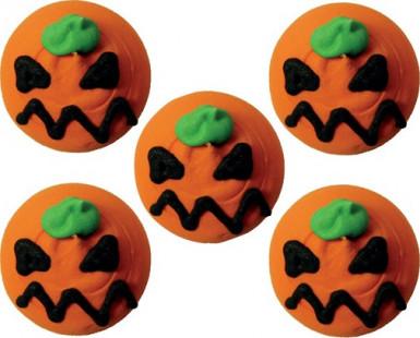 Set van suiker versieringen pompoen Halloween