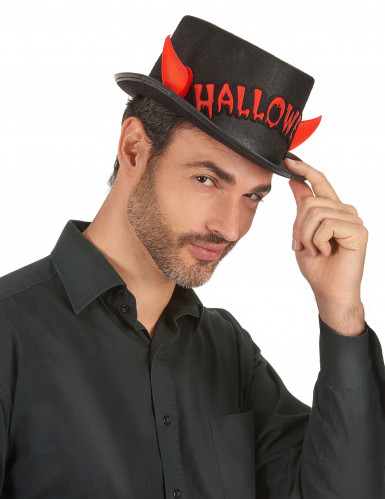 Halloween hoed met hoorntjes voor volwassenen -2