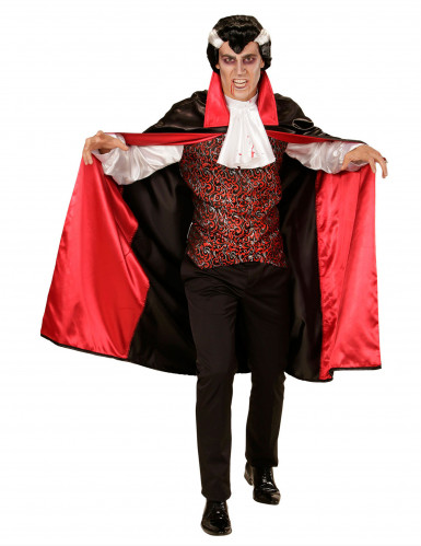 Vampier kostuum met jabot voor heren Halloween
