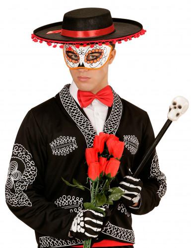 Rood glittermasker Día de los muertos-1