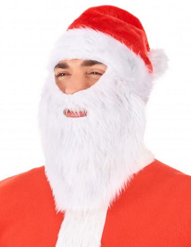 Kerstman muts met baard voor volwassenen-1