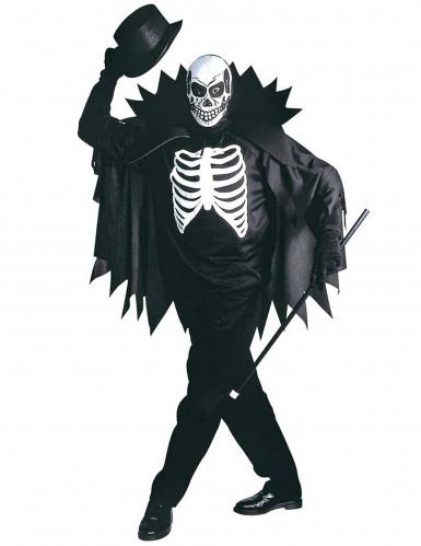 Enge Halloween Kostuums.Skeletten Kostuum Met Cape Voor Volwassenen Halloween